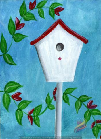 beautiful birdhouse painting parties kansas city overland park shawnee olathe leawood johnson county