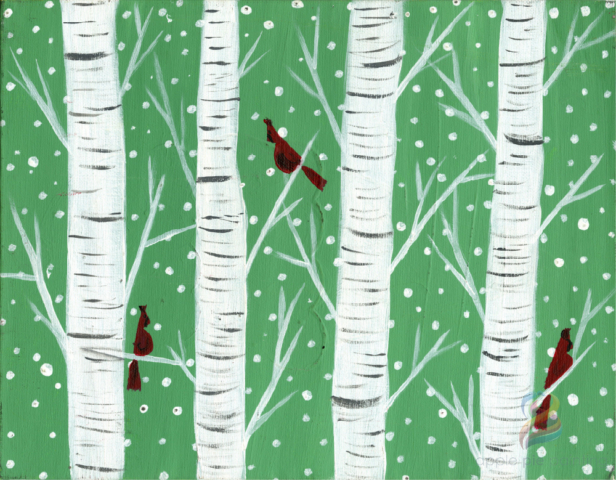 birch tree cardinals painting parties kansas city overland park shawnee olathe leawood johnson county